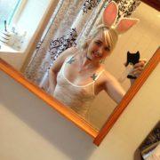 Playboy Bunny Selfie Transparentes Oberteil Sexy